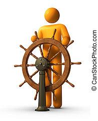 liderazgo, -, steersman