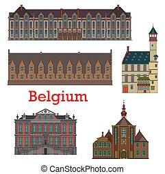 liege, señales, arquitectura, belga, bélgica