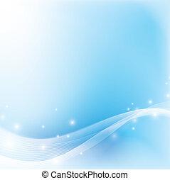 Ligera luz suave y azul fondo