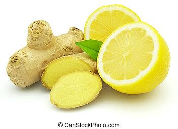 Limón fresco con jengibre