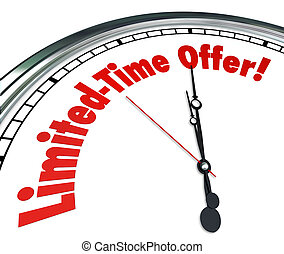 limitado, ahorro, reloj, oferta, venta, tiempo, dea, espacio libre, acontecimiento, especial