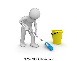 limpiador, trabajo