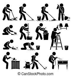 Limpiar y lavar la casa