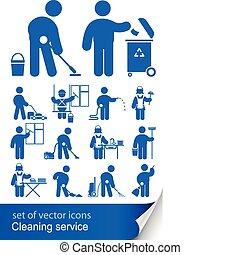 limpieza, servicio, icono