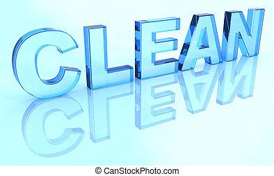 limpio, señal, cristal