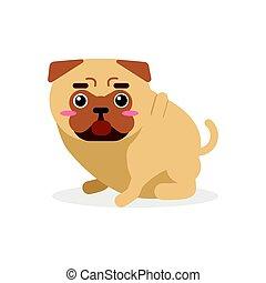Linda caricatura de perro caricatura vector de ilustración