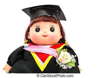 Linda chica de graduación