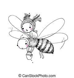 Linda hada y la abeja