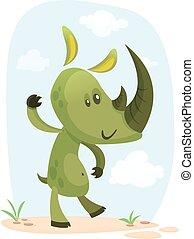 Linda ilustración de rinocerontes