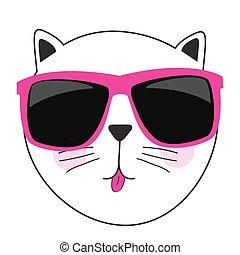 Linda ilustración de vector de gato dibujado a mano