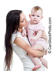 Linda madre con una niña