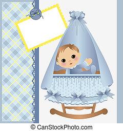 Linda plantilla para la tarjeta de bebé