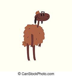 Lindas y divertidas ilustraciones de dibujos animados de ovejas
