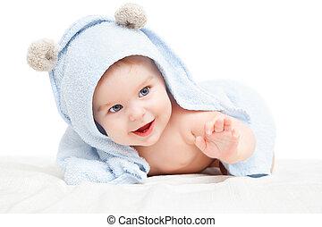 Lindo bebé arrastrándose