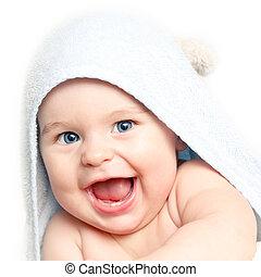 Lindo bebé sonriente
