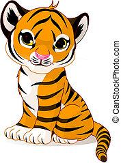 Lindo cachorro tigre