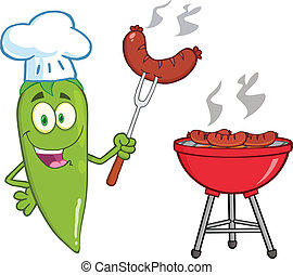 Lindo chef de chili verde