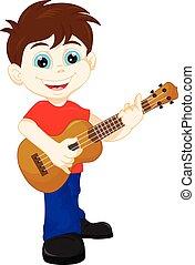 Lindo chico tocando la guitarra