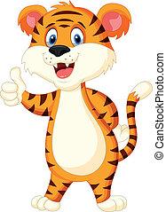 Lindo dedo del tigre