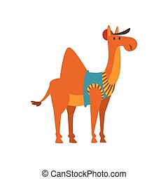 Lindo dibujo animado de animales de camello humanizados ilustración vectorial de caracter