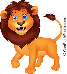 Lindo dibujo animado del león