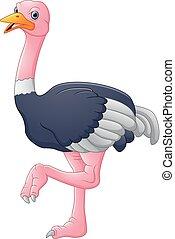 Lindo dibujo de avestruz