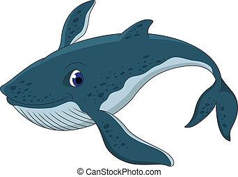 Lindo dibujo de ballena azul