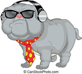 Lindo dibujo de bulldog inglés