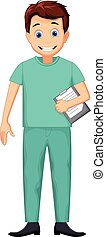 Lindo dibujo de enfermero