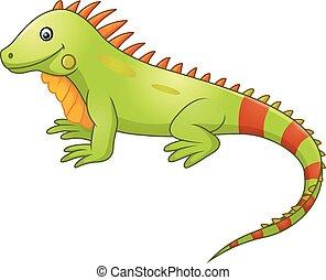 Lindo dibujo de la iguana