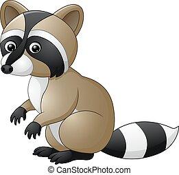 Lindo dibujo de mapache