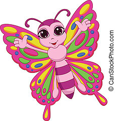 Lindo dibujo de mariposas