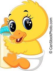 Lindo dibujo de pato bebé