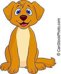 Lindo dibujo de perro sentado