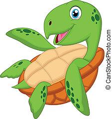 Lindo dibujo de tortuga marina