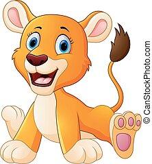 Lindo dibujo del león