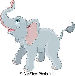 lindo, elefante