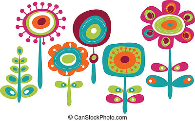 lindo, flores, colorido
