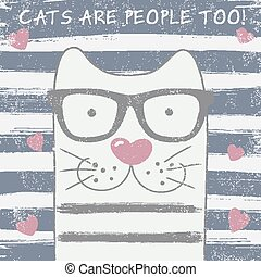 Lindo gato con gafas