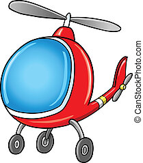Lindo helicóptero de dibujos animados