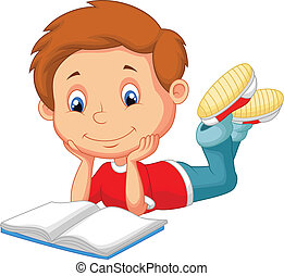 Lindo libro de lectura de dibujos animados