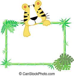 Lindo marco de tigre bebé