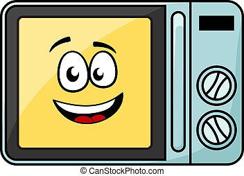 Lindo microondas de dibujos animados