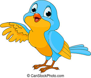 Lindo pájaro de dibujos animados