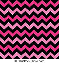 Lindo patrón Chevron sin marcas (negro y rosa)