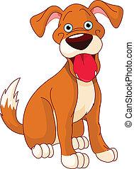 Lindo perro sonriente