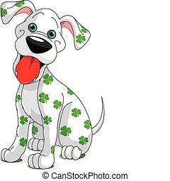 Lindo perro sonriente de Patrick
