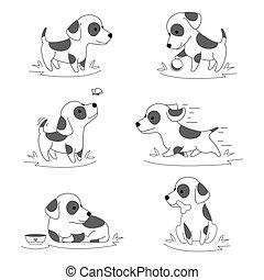Lindo personaje de cachorrito vector vector