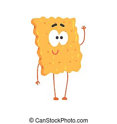 Lindo personaje de galletas, dibujos animados vector de postre ilustración