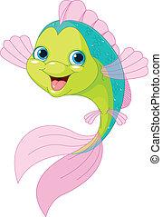 Lindo pez caricatura